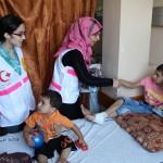 I volontaro del PMRS all'ospedale al-Shifa il 28 luglio 2014
